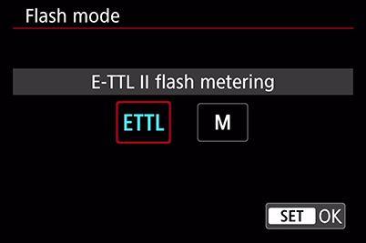 cài đặt chế độ đèn flash